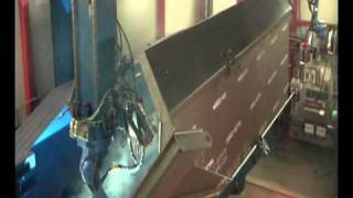 Welding a dump truck bed.wmv