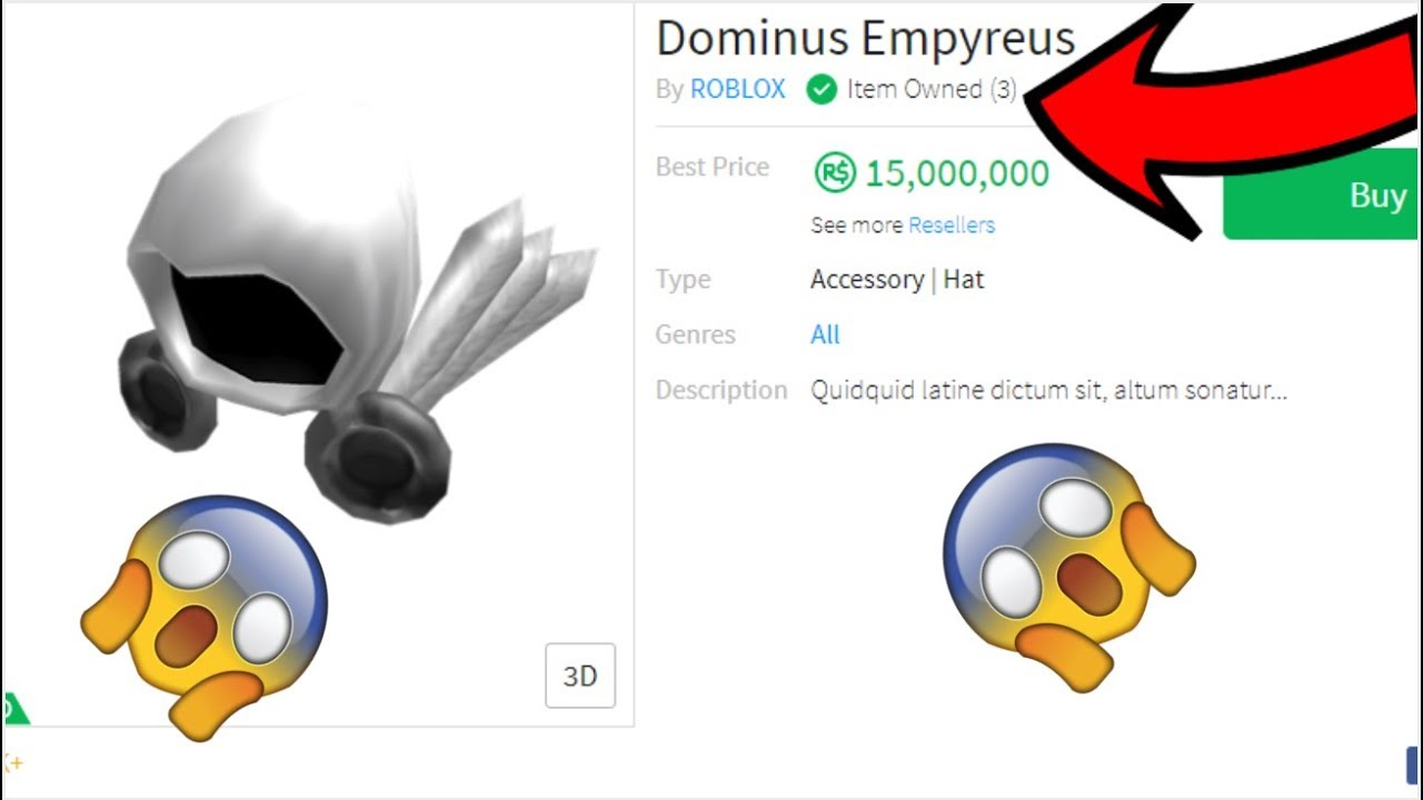 How To Get Dominus Empyreus For Freewear For Free Roblox Youtube
