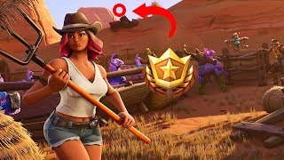 Cómo encontrar la *ESTRELLA OCULTA* Semana 1 - Temporada 6 FORTNITE Battle Royale