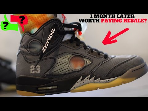 Worth Paying RESALE 1 Month Later? AIR JORDAN 5 x OFF-WHITE Review & On Feet! from YouTube · Duration:  11 minutes 47 seconds