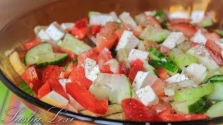 Как приготовить простой и вкусный салат с сыром фета и сельдереем. Рецепт.