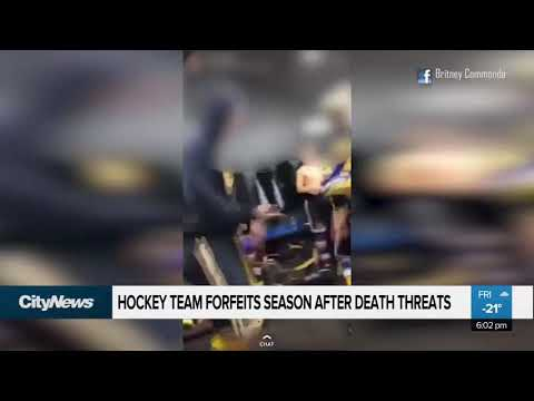 Alberta hockey team forfeits after facing death threats