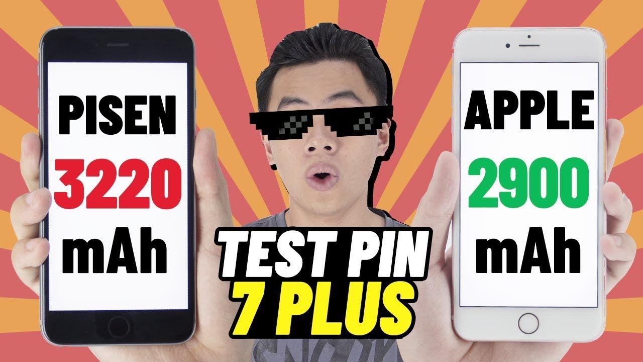 Test pin Pisen dung lượng cao iPhone 7 Plus vs pin zin Apple lúc 3h sáng