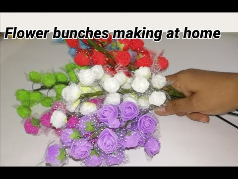 Artificial flowers making at home