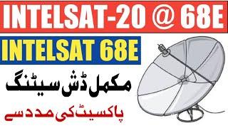 Intelaat 68e dish setting