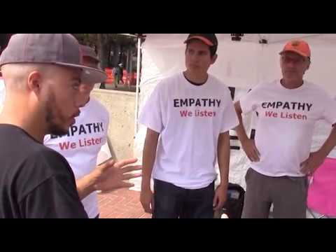 Empathy Tent at Milo UC Berkeley Sproul Plaza Free Speech Rally