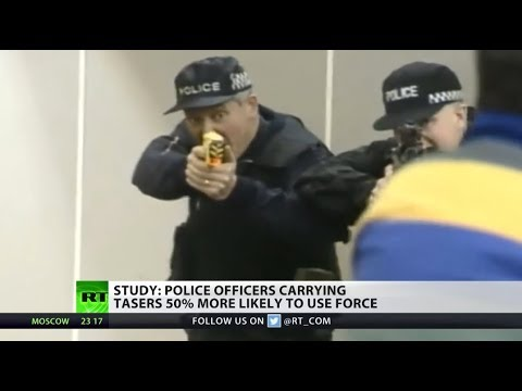 Study: police officers carrying tasers 50% more likely to use force