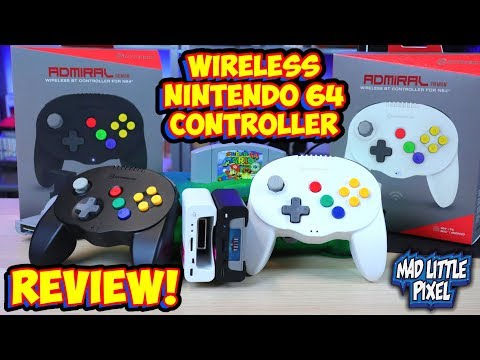 Wireless Bluetooth Nintendo 64 Controller! Hyperkin Admiral Review! Back Up Saves & More!