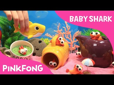 Run Away! Clay Baby Shark Fishes! | Pinkfong Clay | Animal Songs | Pinkfong Songs for Children