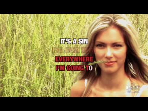 It's A Sin in the style of Pet Shop Boys | Karaoke with Lyrics