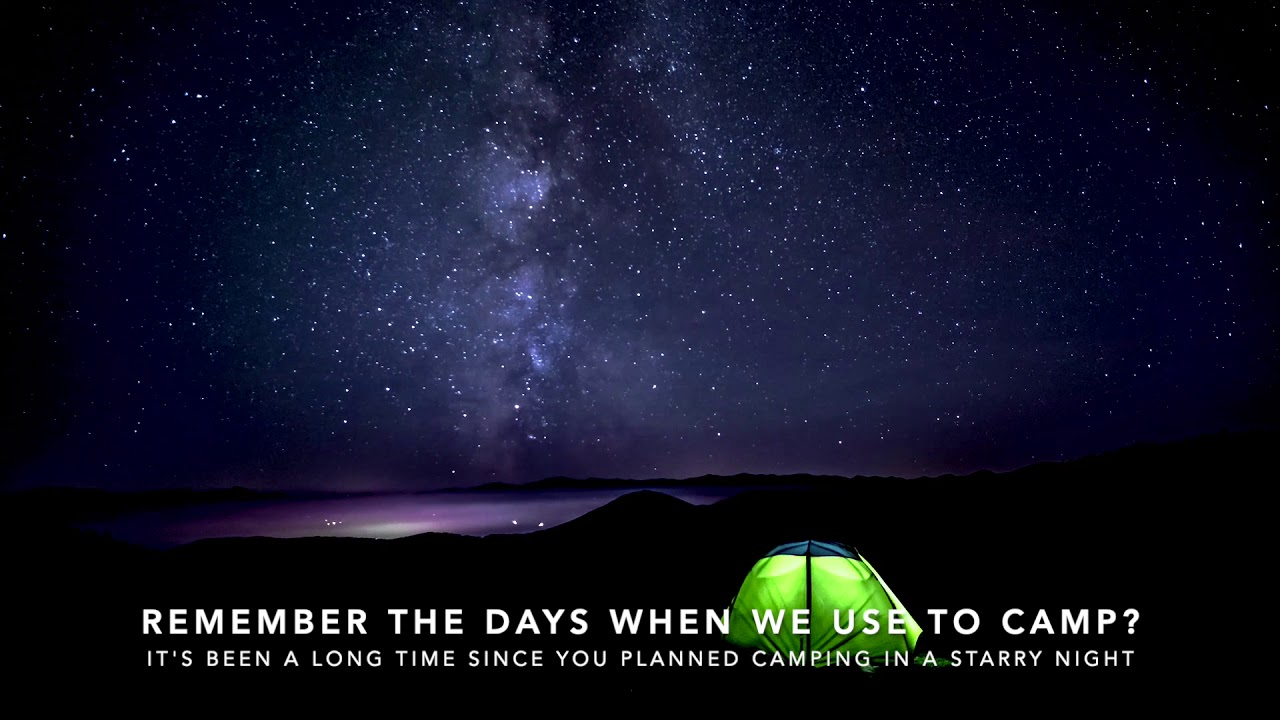Camping in a Starry Night - YouTube