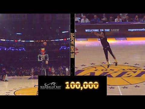 Rachel Lutzker - Lakers Fan Hits Half Court Shot to Win 100k!