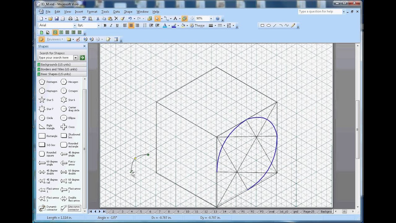 How to draw circles in Isometric Drawing - YouTube