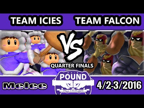 Pound 2016 - Team Ice Climbers Vs. Team Captain Falcon - Mono-Character Crews - SSBM