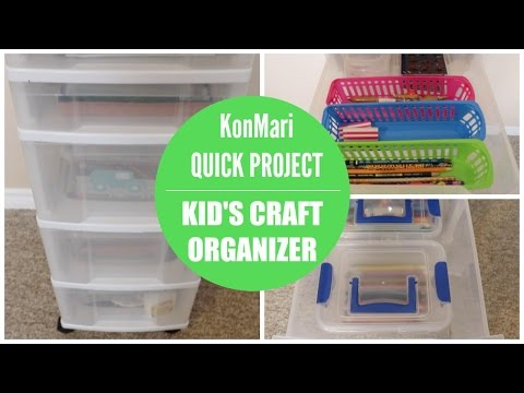 KonMari Organization | Kid's Craft Organizer