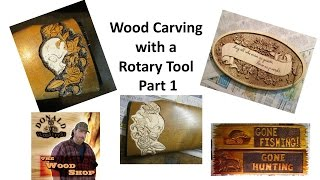 Rotary Tool Wood Carving Part 1
