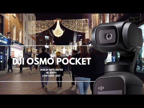 DJI Osmo Pocket 4K 60fps Low Light Test Dublin Ireland
