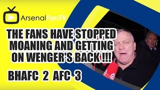 The Fans Have Stopped Moaning and getting on Wenger