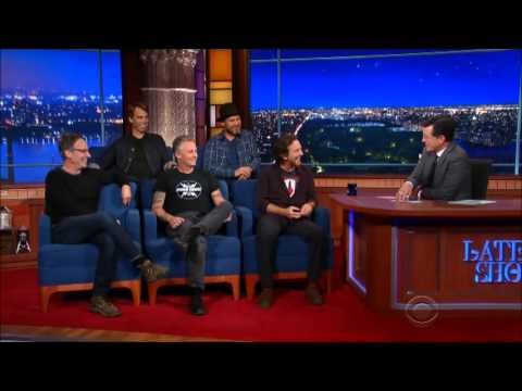 Pearl Jam Interview with Stephen Colbert on The Late Show 2015