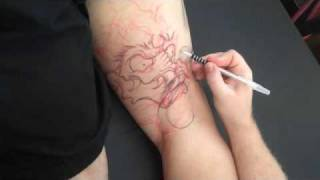 Foo Dog Tattoo Leg Sleeve By Jason Dunn