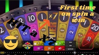 FIRST time on SPIN A WIN live casino