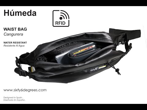 Sixty6Degrees RFID Water Resistant Waist Bag For Security Of Your Motorcycle and Credit Card