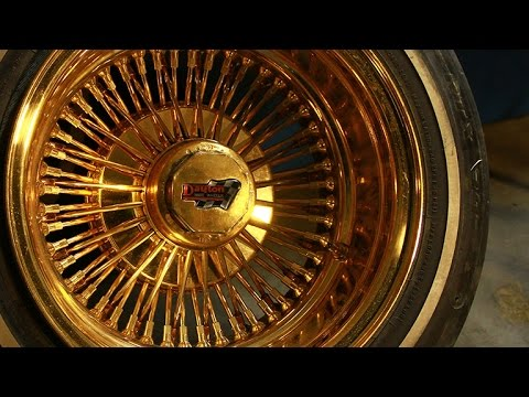 How To Identify And Clean Authentic All Gold Dayton Wire Wheels Youtube