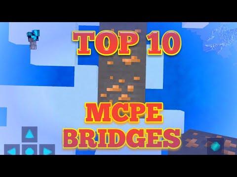 Top 10 MCPE Bridges!
