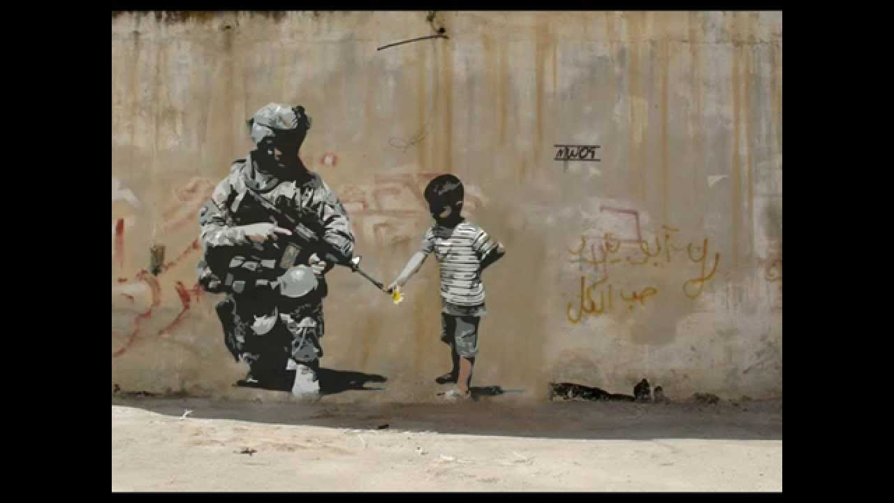 New Street Art By Banksy Famous Graffiti Wall Art By British Artist Banksy