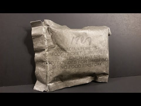 1987 Canadian Food Packet Survival Supplementary Air MRE Review 72 Hour Ration Taste Testing
