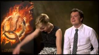 Jennifer Lawrence and Josh Hutcherson Yahoo Interview - Joshifer Moments