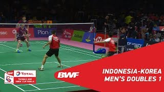 Thomas Cup | MD1 | GIDEON/SUKAMULJO (INA) vs CHUNG/KIM (KOR) | BWF 2018