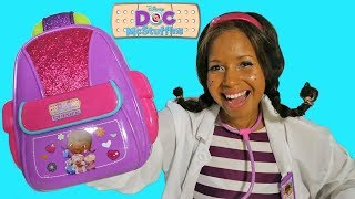 Doc McStuffins First Responders Backpack Unboxing ! || Disney Toy Review || Konas2002