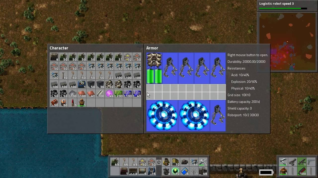 Amazing Factorio How To Use Armor Upgrades, Run Faster, Use Personal Roboport And Fusion  Reactors