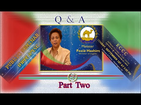 Eritrea - Minister Fozia Hashim - Seminar -Washington - DC Part - TWO