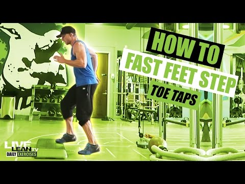 How To Do FAST FEET STEP TOE TAPS   Exercise Demonstration Video and Guide