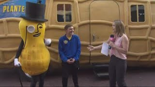 We got to meet Mr. Peanut