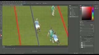 Soccer offside line placement [Manchester City 4-3 Tottenham, 18 Apr 2019]