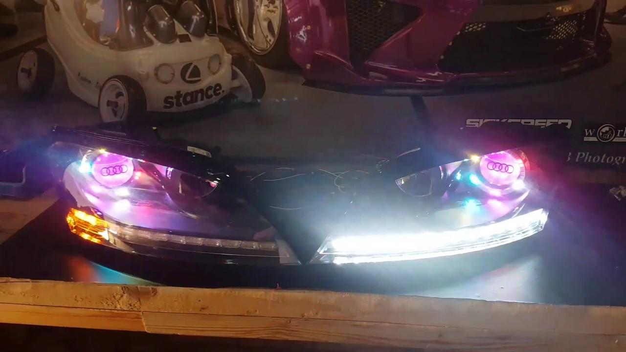 Audi TT custom headlights - YouTube