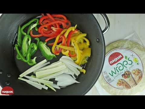 Wraps Nagual con Verduras al Wok, Salsa de Soja, Sésamo y Miel
