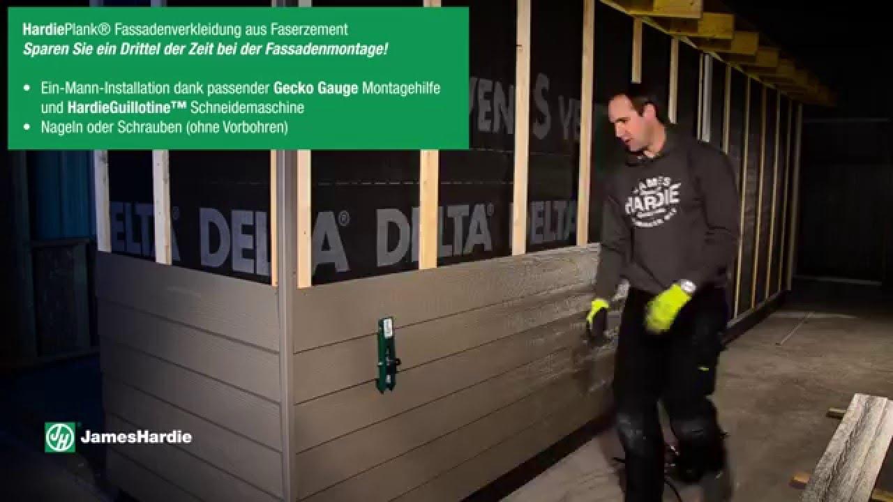 Jameshardie Installation Mit Gecko Gauge Montagehilfe