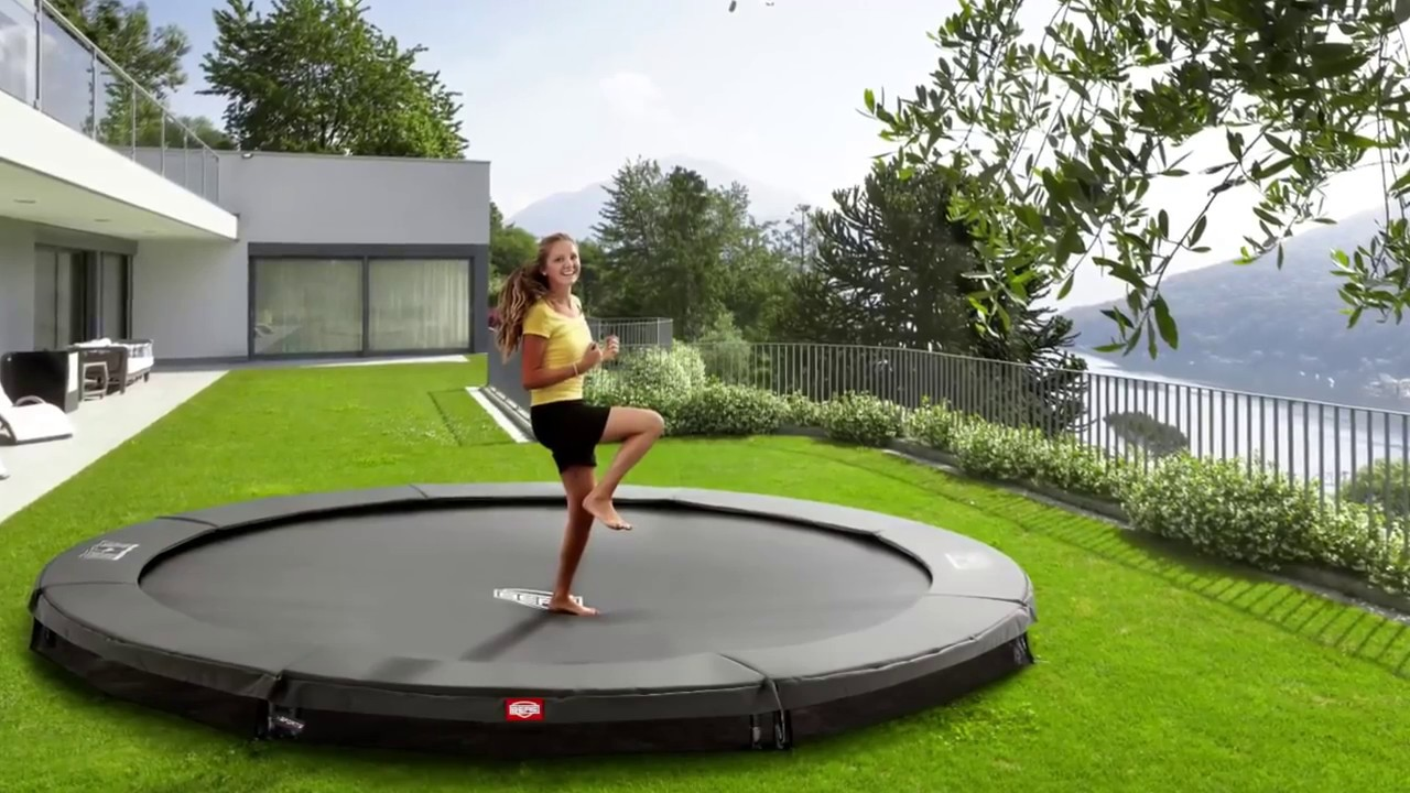 berg flatground champion trampolin youtube. Black Bedroom Furniture Sets. Home Design Ideas