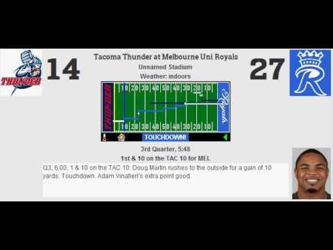 Cheesy Championship: Tacoma Thunder (11-6) @ Melbourne Uni Royals (11-6)
