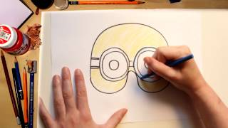 How to draw a Minion Mask - drawing with kids