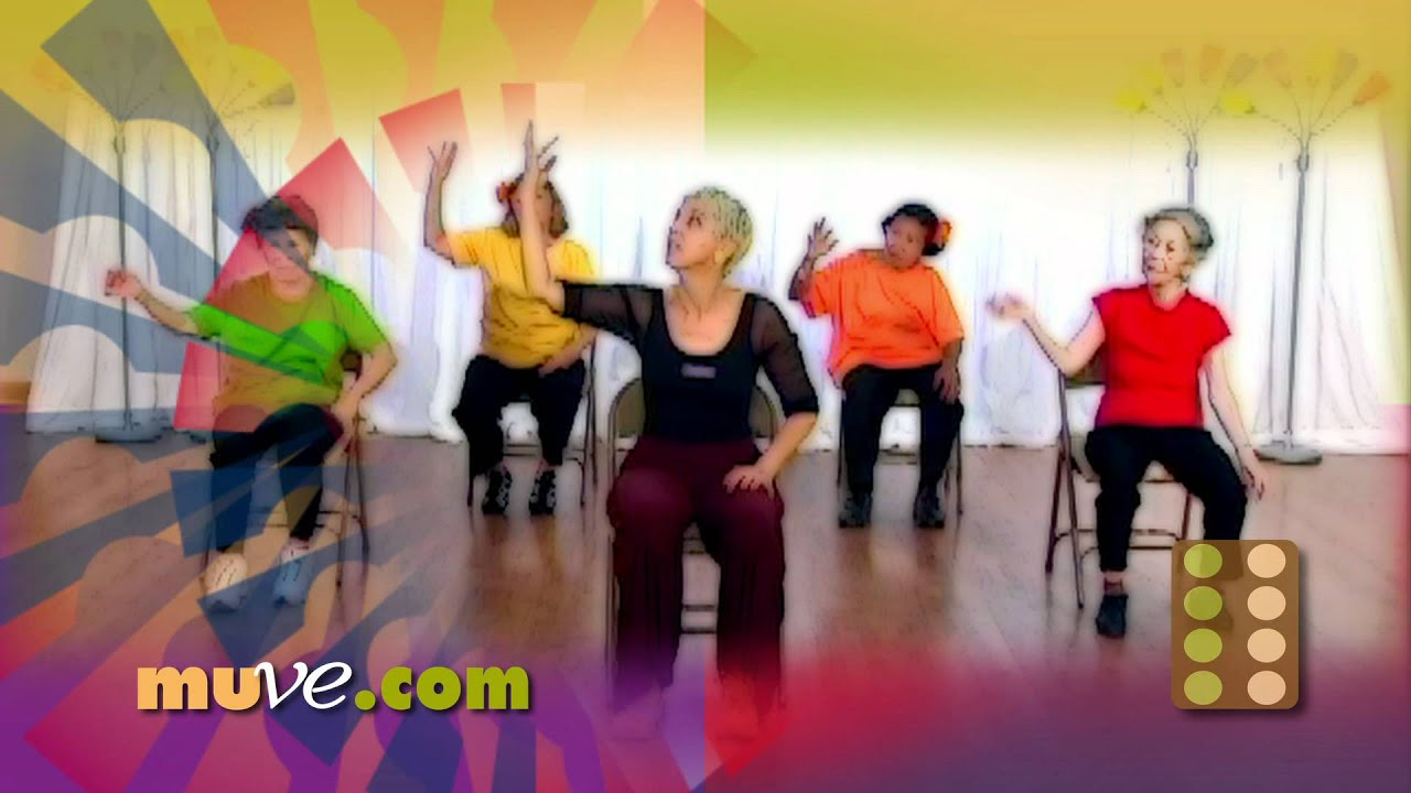 Dance Along Workout For Seniors And Elderly   Low Impact Dance Exercise On  Chairs   YouTube