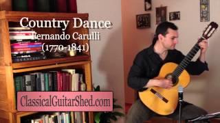 Country Dance - Ferdinando Carulli, Bridges Level 1 guitar