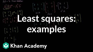 Least squares examples | Alternate coordinate systems (bases) | Linear Algebra | Khan Academy