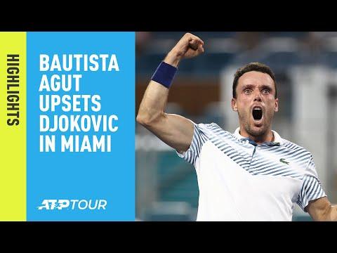 Highlights: Bautista Agut Upsets Djokovic At Miami 2019