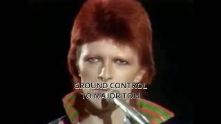 David Bowie  -  Space Oddity (Live with Lyrics)