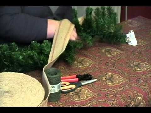 how to decorate a store bought christmas garland youtube. Black Bedroom Furniture Sets. Home Design Ideas